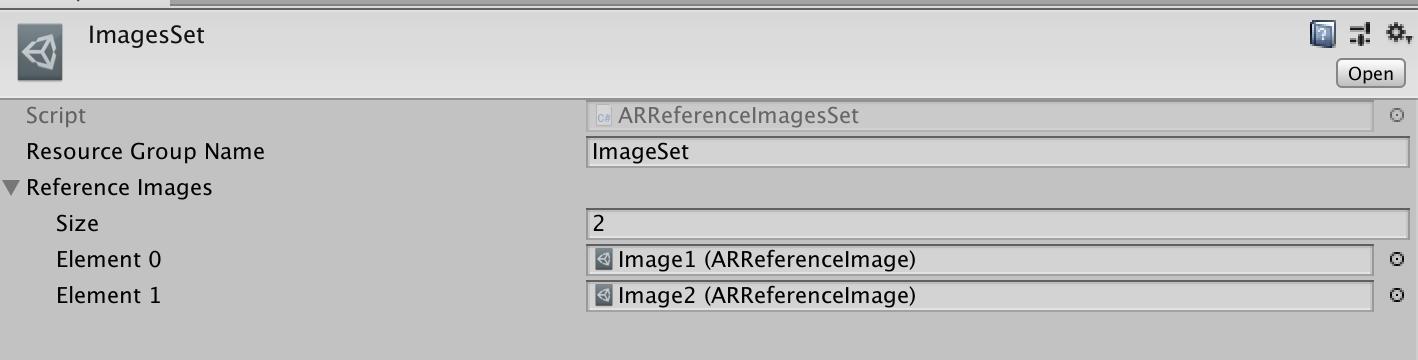 ARReferenceImagesSet配置