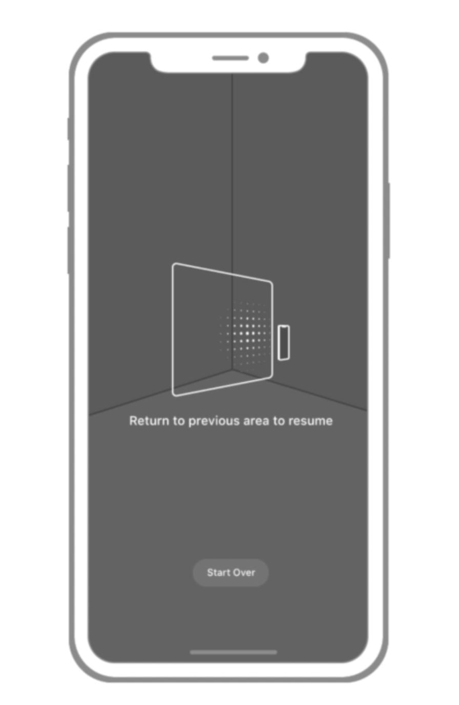 允许用户重置场景、初始化平面